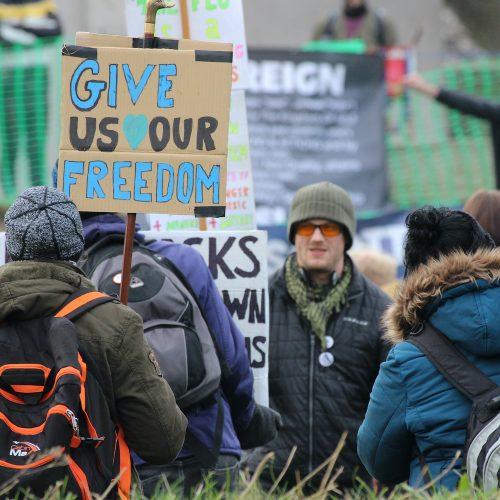 Anti-lockdown protest Holyrood Square