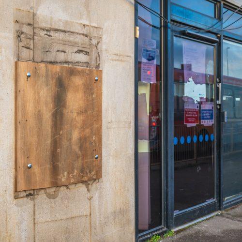 Bank closed Square
