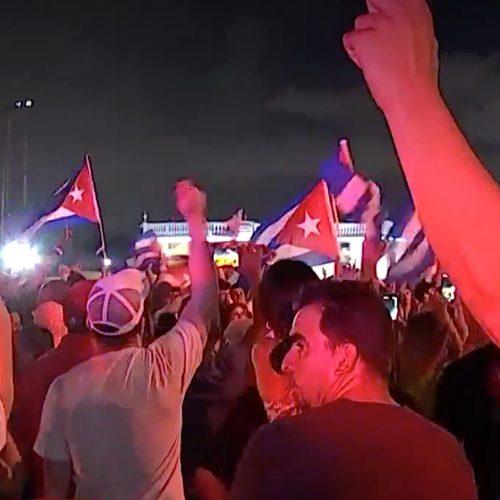 Cuban protest Square
