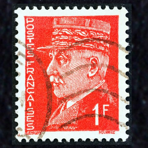 Marshal Petain Stamps Red Square