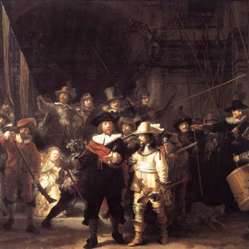 Rembrandt's Night Watch Square