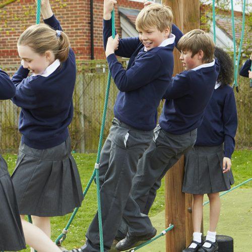Scottish school pupils Square