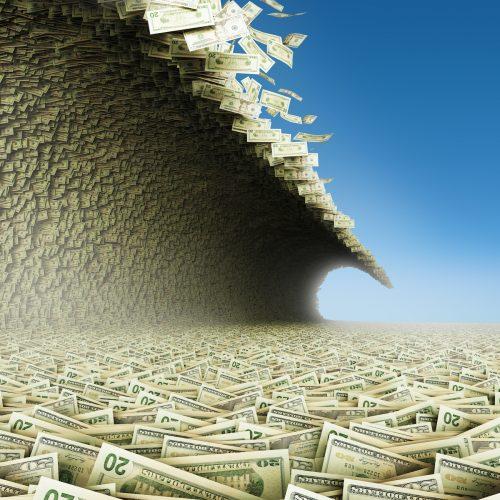 Dollars wave.