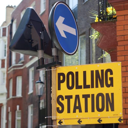 Voter's polling station Square